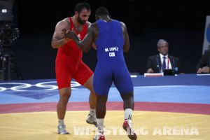 London2012GrecoRomanwrestling120kgLopez Pherselidze (14).jpg