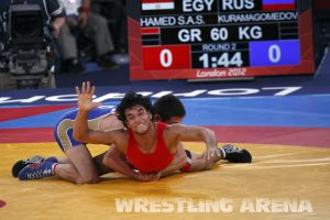 London2012GrecoRomanWrestling60kgKuramagomedov Hamed (9).jpg