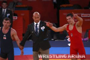 London2012OlympicGRWrestling66kg (25).jpg